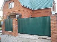 Ворота откатные, зашивка профнастил - вертикальное исполнение, фото 8