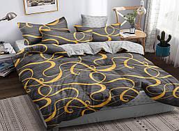 Семейный комплект постельного белья сатин (16838) TM КРИСПОЛ Украина