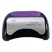 УФ лампа для нігтів Beauty nail 18K CCFL LED 48W сушарка сенсор Чорний
