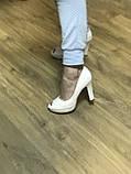 Туфлі жіночі класичні чорні ,каблук і платформа, фото 4
