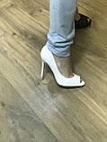 Туфлі жіночі класичні чорні ,каблук і платформа, фото 6