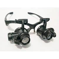 Бинокулярные очки-лупы c Led подсветкой 9892G2 20X