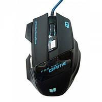 Игровая проводная мышка Gaming mouse LED G-509-7 Чёрная