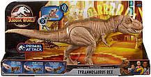 Интерактивный динозавр Тираннозавр Рекс 50 см звук, движения. Jurassic World Bite 'n Fight Tyrannosaurus Rex