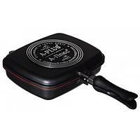 Сковорода подвійна для гриля і смаження 30 см А-Плюс 1500