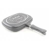 Сковорода-гриль двостороння з мармуровим покриттям A-PLUS 1502 (32см)