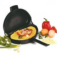 Подвійна сковорода для омлету антипригарна Folding Omelette Pan