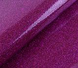 Термотрансферная пленка для термопечати Глиттер цвет Сиреневый 50х50см, фото 4