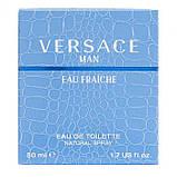 Туалетна вода для чоловіків Versace Man Eau Fraiche 50 мл, фото 3