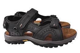 Босоножки (сандали) мужские из натуральной кожи, черные Gri Sport Италия