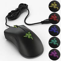 Игровая проводная мышь RAZER DeathAdder Essential Чёрная (Реплика)