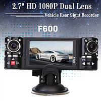 Видеорегистратор DVR F600 с двумя камерами