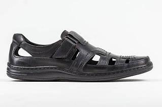 Чоловічі шкіряні літні туфлі Comfort black Leather