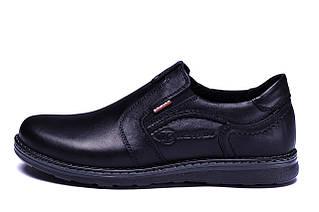 Чоловічі шкіряні туфлі Kristan black old school