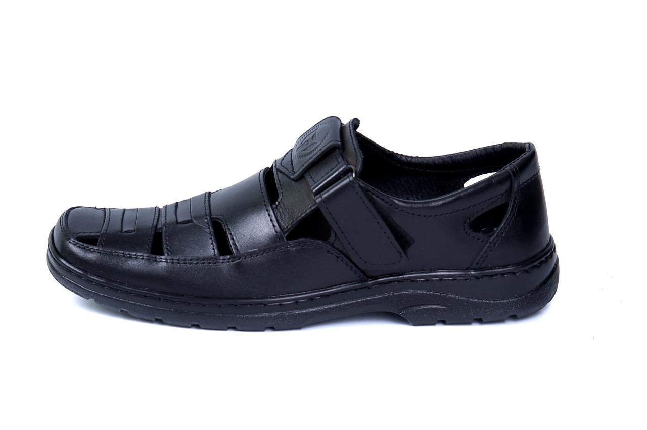 Чоловічі шкіряні літні туфлі Matador Black