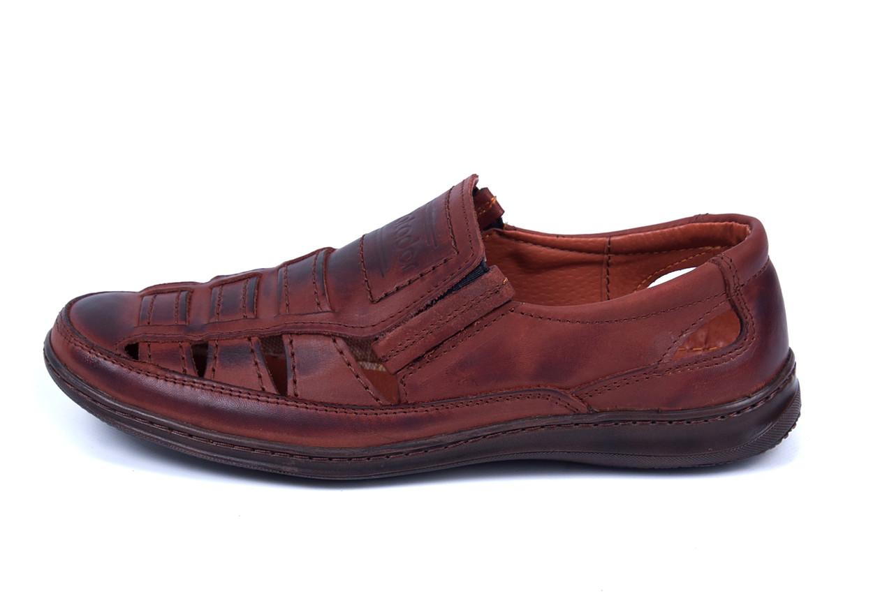 Мужские кожаные летние туфли Matador Brown