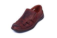 Мужские кожаные летние туфли Matador Brown, фото 2