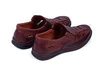 Мужские кожаные летние туфли Matador Brown, фото 3
