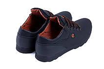 Мужские кожаные кроссовки  Е-series  (реплика), фото 3