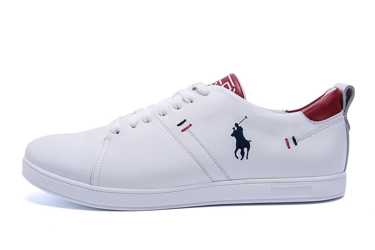 Чоловічі шкіряні кросівки Polo Clasic White (репліка)