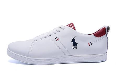 Чоловічі шкіряні кросівки Polo Clasic White (репліка), фото 2