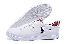 Чоловічі шкіряні кросівки Polo Clasic White (репліка), фото 3