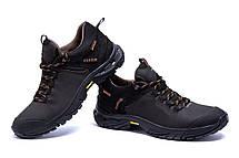 Мужские кожаные кроссовки Tracking Chocolate (реплика), фото 2