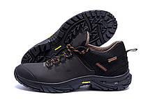 Мужские кожаные кроссовки Tracking Chocolate (реплика), фото 3