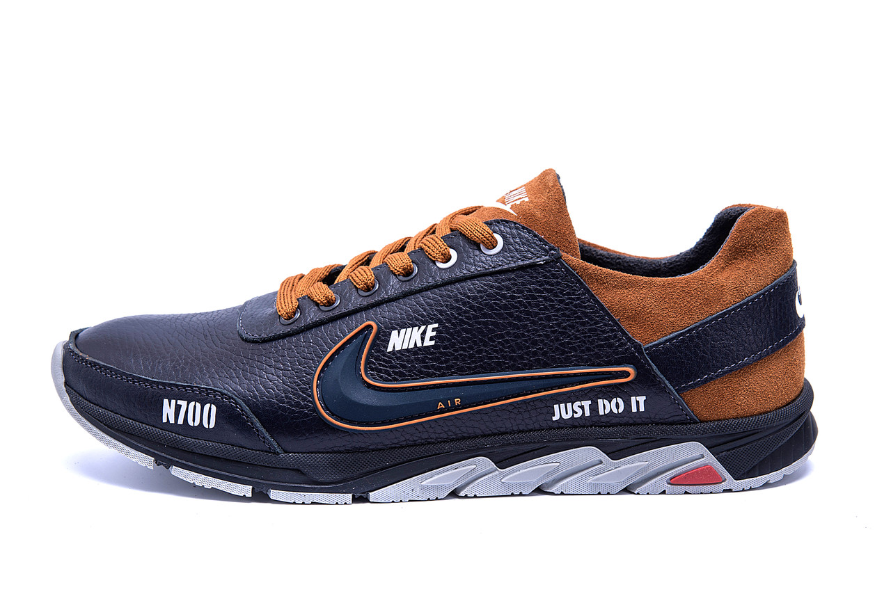 Мужские кожаные кроссовки Nike N700 (реплика)