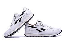 Мужские кожаные кроссовки Reebok Classic White  (реплика), фото 2