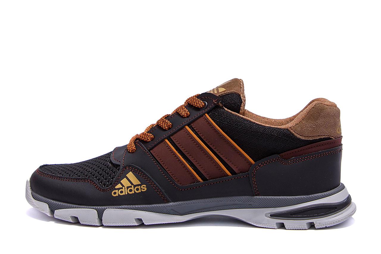 Чоловічі кросівки літні сітка Adidas Tech Flex Brown (репліка)