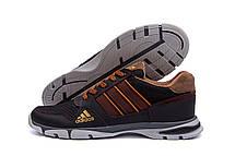 Чоловічі кросівки літні сітка Adidas Tech Flex Brown (репліка), фото 3