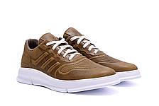 Чоловічі шкіряні кросівки YAVGOR Olive, фото 3