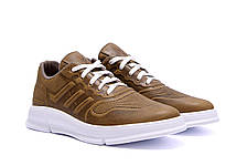 Мужские кожаные кроссовки YAVGOR Olive, фото 3