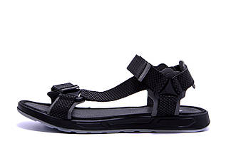 Чоловічі шкіряні сандалі Nike Track Black (репліка)