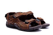 Чоловічі шкіряні сандалі DEFF brown, фото 3