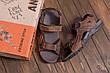 Чоловічі шкіряні сандалі DEFF brown, фото 5