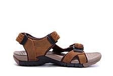Чоловічі шкіряні сандалі DEFF olive, фото 2