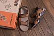Мужские кожаные сандалии DEFF olive, фото 5