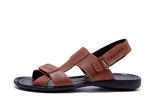 Чоловічі шкіряні сандалі CARDIO Brown