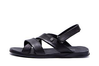 Чоловічі шкіряні сандалі VanKristi Black
