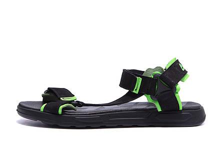Мужские кожаные сандалии Nike Track Black (реплика), фото 2