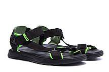 Чоловічі шкіряні сандалі Nike Track Black (репліка), фото 2