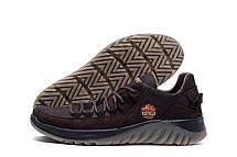 Чоловічі шкіряні кросівки ICEFIELD Brown, фото 3