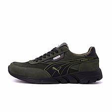Чоловічі шкіряні кросівки Puma Anzarun Green (репліка), фото 2