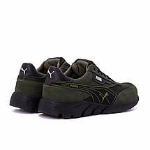Мужские кожаные кроссовки Puma Anzarun Green (реплика), фото 2