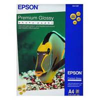 Фотобумага EPSON Premium Glossy Photo Paper, глянцевая, 255g/m2, A4, 20л (C13S041287)