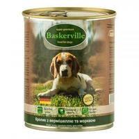 Влажный корм для собак Baskerville Кролик с вермишелью и морковью 400 г