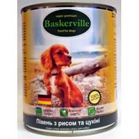 Вологий корм для собак Baskerville Півень з рисом і цукіні 800 г