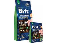 Сухий корм Brit Premium Adult XL для дорослих собак гігантських порід зі смаком курки 15 кг (8595602526529)